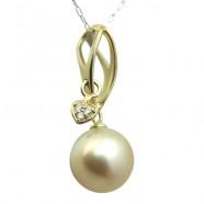 South Sea perle og diamant hjerte vedhæng